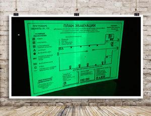 информационные стенды, планы эвакуации, вывески, таблички, баннера